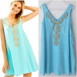 NWT Lilly Pulitzer Fia Dress - Serene Blue